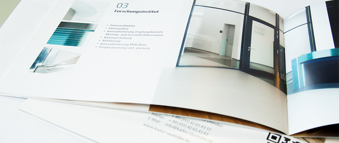 Kadur Raumidee Imagebroschüre Architektur