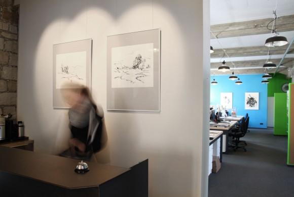 Kunstausstellung: Der Aufbau ist in vollem Gange