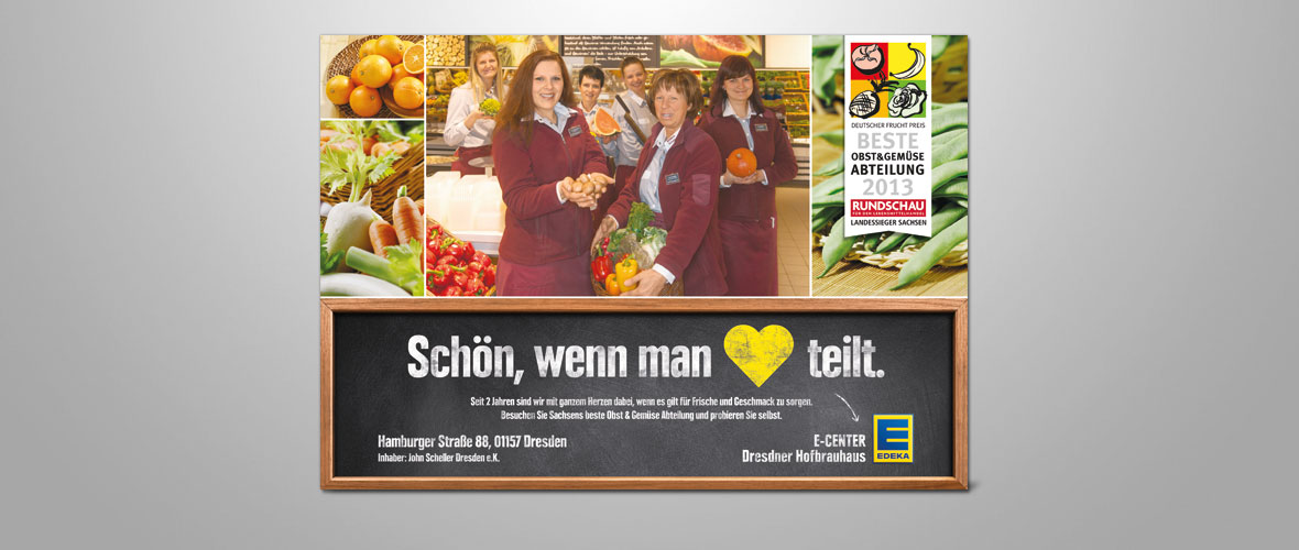 EDEKA Anzeige EDEKA Center Scheller in Dresden